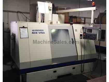 "Daewoo ACE V50 VMC (1997): 40""x20""x20"", 8K RPM, 20 HP, 30 AT"