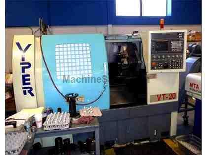 "23.62"" Swing 19.68"" Centers Mighty Viper VT-20 CNC LATHE, Fanuc 18T, 8"" chk., Chip Conveyor"