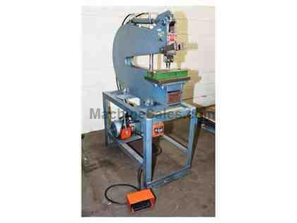 "9 Ton 24"" Throat Kidder DP-24-S SINGLE STA. PUNCH PRESS, Equipped with misc. punches and dies"