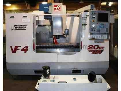 "50"" X Axis 20"" Y Axis Haas VF-4 VERTICAL MACHINING CENTER, Haas Control,7,500 RPM,20 ATC"
