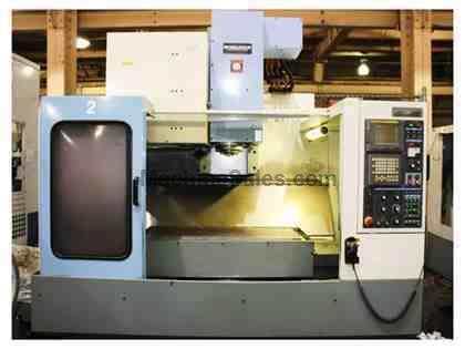 "40"" X Axis 24"" Y Axis Shizuoka SV-4020 VERTICAL MACHINING CENTER, Fanuc 18i  M,10,000 RPM, 24 ATC"