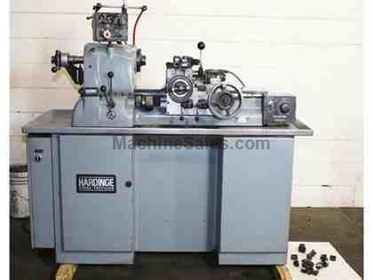 "11"" Swing Hardinge HC PRECISION ENGINE LATHE, Vari-Speed,5C-Colllet Closer,Turret,Tooling"