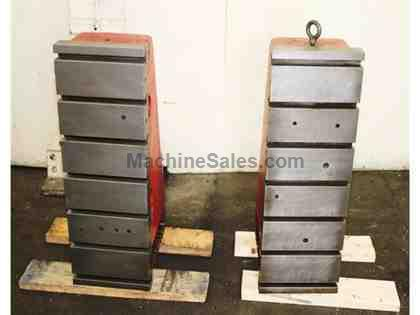 "36"" Height 12"" Width Cincinnati-Milacron Cast Iron ANGLE PLATES, Pair of 36""HX12""WX17-3/4""D Cast Iron T-Slotted"