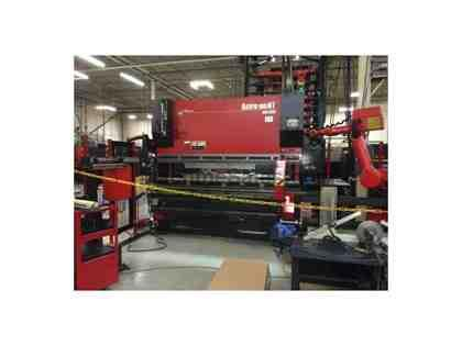 110 Ton, AMADA ASTRO 100NT, HDS1030, ROBOTIC BENDING CELL, MFG:2004