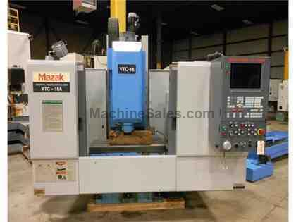"1996 MAZAK VTC-16A VERTICAL MACHINING CENTER, 22"" X 16"" X 20"", M-PLUS"