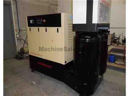 50HP Rotary Screw Compressor with twin tanks and dryer