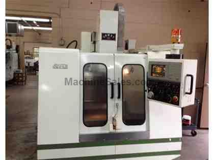 "20"" X Axis 16"" Y Axis Mighty VMC-500P VERTICAL MACHINING CENTER, Mitsubishi 520M Control, 6,000 RPM, CAT40, 16 ATC"