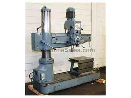 "4' Arm Lth 9"" Col Dia Meuser M35R RADIAL DRILL, Power Elevation, Tapping,4 HP,Box Table,"