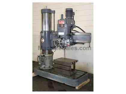 "4' Arm Lth 13"" Col Dia Ikeda RM1150 RADIAL DRILL, Power Elevation & Clamping, 7.5 HP,#5MT, Box Table"