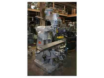 "48"" Table 2HP Spindle Bridgeport SERIES I VERTICAL MILL, Vari-Speed, Newall DRO, Power Tbl Feed, R-8"