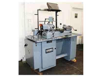 "9"" Swing Hardinge DSM-59 SECOND OP LATHE, Vari-Speed,5C-Collet Closer,Cross Slide & Bed Turr"