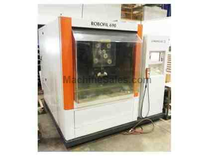 "23.6"" Y Axis 31.5"" X Axis Charmilles ROBOFIL 690 WIRE-TYPE EDM, 54.3"" x 39."