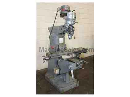 "42"" Table 1HP Spindle Bridgeport J-Head VERTICAL MILL, Chrome Ways, Trav-A-dial For Long& Cross, R-8"