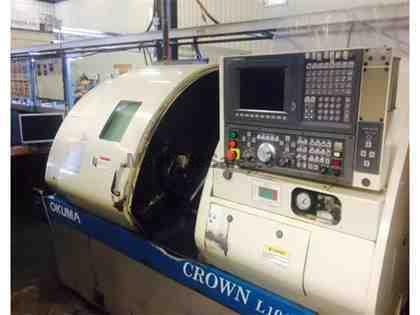 "OKUMA Crown ""Big Bore"" L1060 CNC Turning Center"