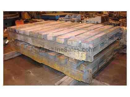 "(5) 72"" x 120"" x 13"" T-Slotted Cast Iron Floor Plates"