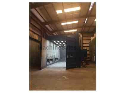 Used abrasive blast booth (42'x18'x16') and full dust collectio