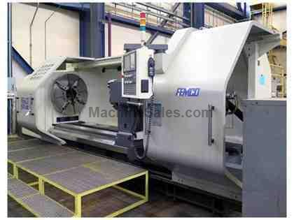"55"" x 118"" FEMCO BL975-3000 CNC Flat-Bed Big Bore Lathe"