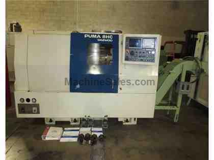 96 DAEWOO PUMA 8HC 8 CNC LATHE TURNING CENTER FANUC
