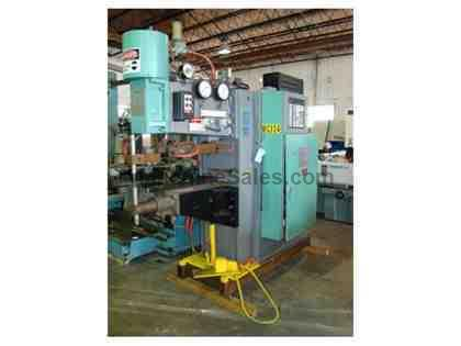 "75 KVA, SCIAKY, Type PMC01STM, 36"" throat, 3 phase, Touch-Weld control, 1988"
