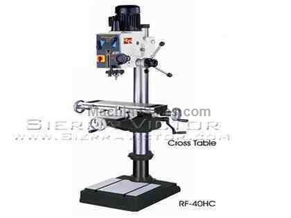 "23"" x 7.5"" RONG FU® Geared Head Mill / Drill with Cross Tabl"