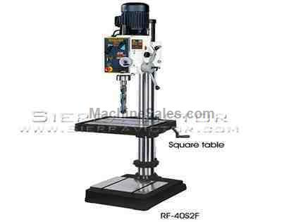 "23"" x 7.5"" RONG FU® Geared Head Mill/Drill w/Square Table"