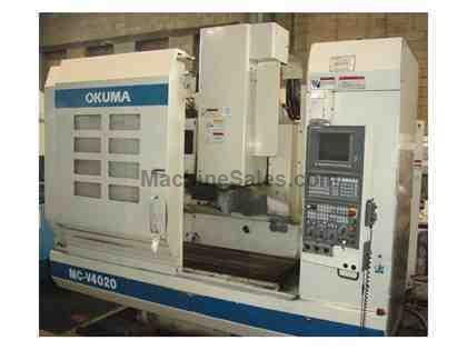 OKUMA MC-V4020 4-AXIS CNC VERTICAL MACHINING CENTER