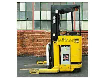 3500 LB YALE NRO35 Stand UP Electric Narrow Aisle Single Reach, 2002