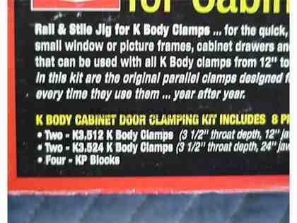Bar Clamp K-Body Clamping Kit for Cabinet Doors