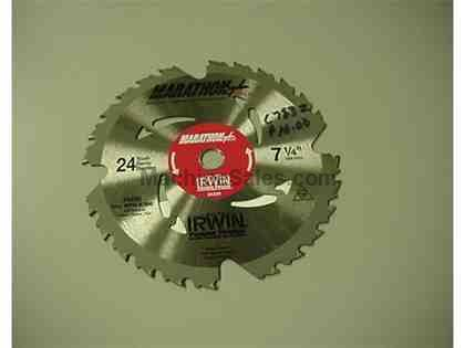 "7-1/2"" x 24T Carbide tipped saw blade by Irwin"