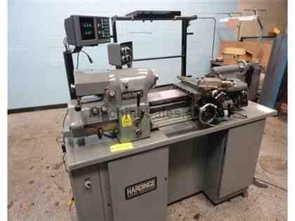 HARDINGE HLVH-EM SUPER-PRECISION TOOLROOM LATHE,LIKE-NEW,READOUT,NEW-2003