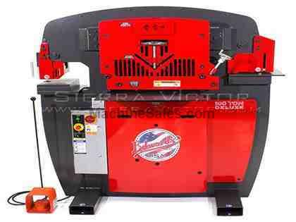 100 Ton EDWARDS® Deluxe Hydraulic Ironworker: JAWS V