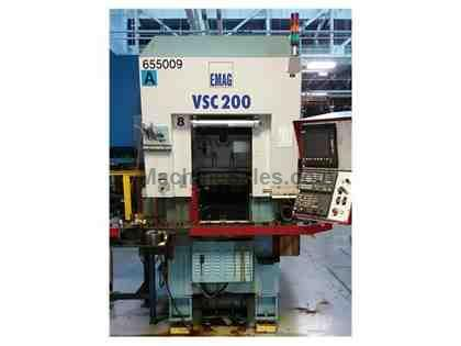 2002 EMAG VSC-200  Siemens 840D CMC Control Inverted 3-Axis with Loader