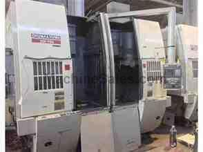 OKUMA & HOWA 2SP-V55 TWIN SPINDLE CNC VERTICAL TURNING CENTER