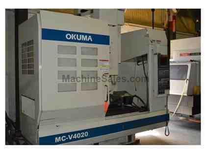 OKUMA MC-V4020 CNC 4 AXIS VERTICAL MACHINING CENTER  (2002)