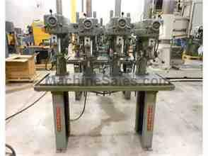CLAUSING MODEL 1687 & 1668, 4-SPINDLE VARIABLE SPEED DRILL PRESS, 15""