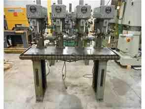 CLAUSING MODEL 1630, 4-SPINDLE STEP PULLEY DRILL PRESS, 15""