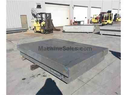 "120"" x 84"" x 16-/2"" Gray Granite Surface Plate 4 -8"" Ledges"
