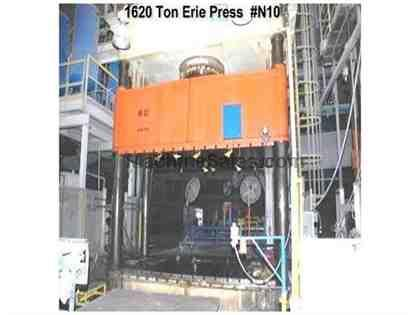 Erie 1620 ton hydraulic press N10 (1990)