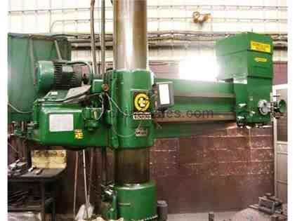 "G&L BICKFORD  6' ARM, 15"" COLUMN RADIAL DRILL, POWER FEEDS, ALL TOOLING"