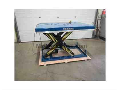 "Blue Giant Hydraulic Lift Table 48"" x 68"" x 36"" lift"