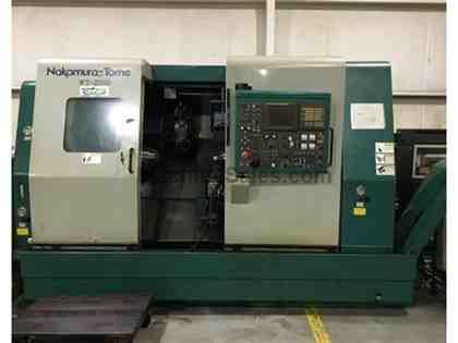 Nakamura-Tome WT-250 w/ Live Tooling + Twin Turret, CNC Lathe