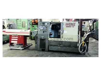 HARDINGE CONQUEST T51 CNC TURNING CENTER W/BAR FEED