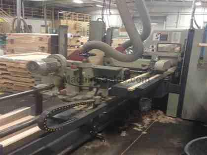 Used Friulmac DualFeed Double End Trim Saw and Moulder Feeder