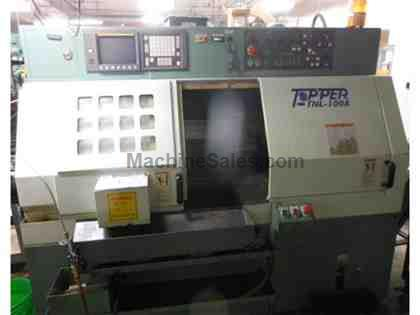 "2000 TOPPER MODEL TNL-100A 2-AXIS CNC LATHE WITH FANUC OT-B CONTROL, 2"" BAR"