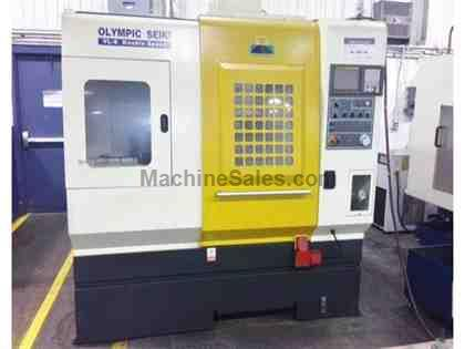 "20.9"", OLYMPIC SEIKI VL-8, FANUC, 2002, INVERTED LATHE, DOUBLE SPEED, 8"" CHUCK"