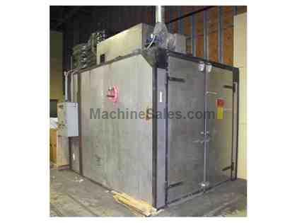 GEHNRICH WALK IN OVEN, 500 F, GAS FIRED 6'W 10'L 6.5'H