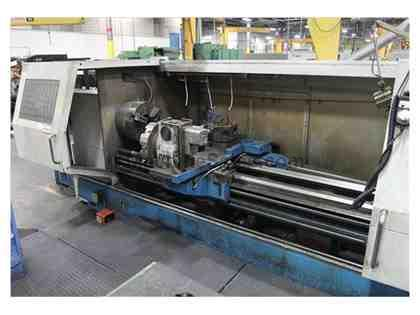 KINWA CL-38C 3000 TWIN TURRET CNC FLAT BED  LATHE