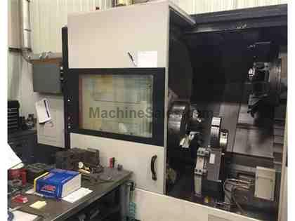 "Mazak Nexus Slant Turn 550M (2009): 40.94"" SW, 123.7"" CC, 21&quot"