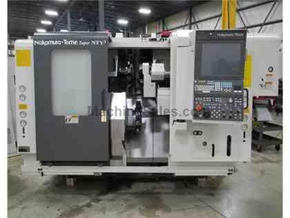 2015 Nakamura-Tome Super NTY3 Twin Spindle CNC Lathe w/ 3 Turrets, Y-Axis