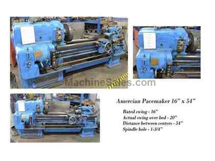 American Pacemaker 16x54 Engine Lathe